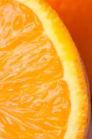 Orange Slice Close-up Stock Photo