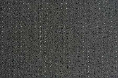 Dark Grey Perforated Artificial Leather Background Texture