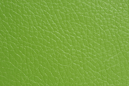Green Artificial Leather Background Texture Close-Up
