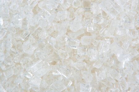 White Sugar Crystals Macro