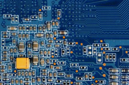 Electronic Circuit Macro Stock Photo