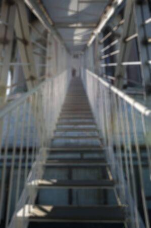 Blurred background. Suspension bridge. 免版税图像