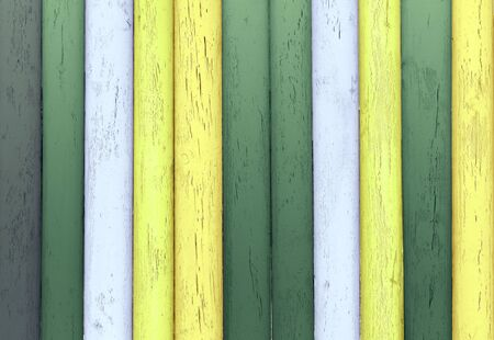 Painted wooden planks in green tones as background