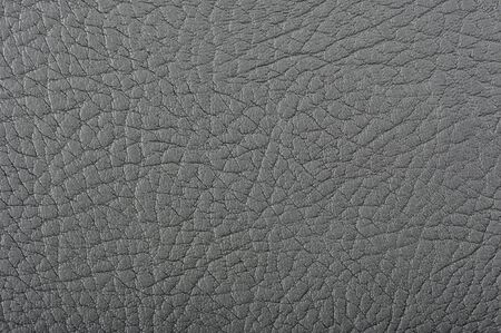 Close-up of dark grey artificial leather background texture