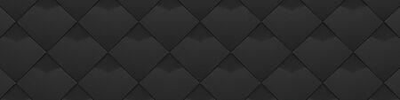 Wide Black Detail Spotty Stucco Background (Website Head) (3D Illustration)