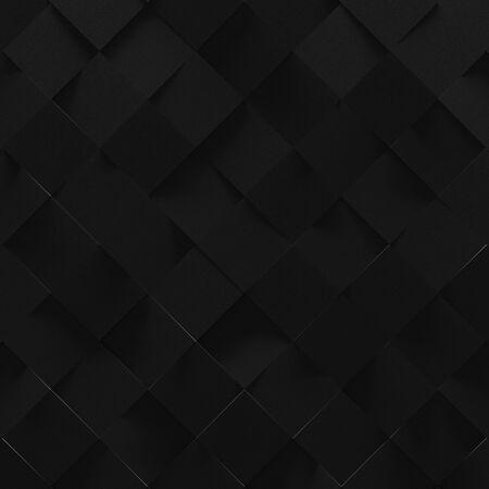 Black Square Tiled Background (3D Illustration)