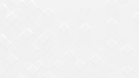 White Geometric Background (3d Illustration)