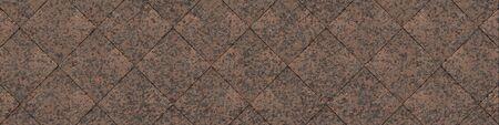 Wide Granite Tiled Background (Site Head) (3D Illustration)