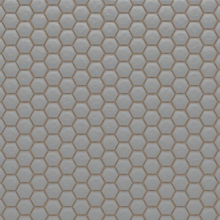 Hexagonal Stone Paved Floor with Sand (Realistic 3D Illustration)