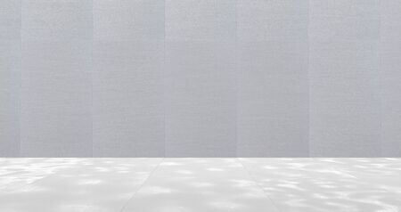 Empty Room With Metal Wall Panels (3D Illustration)