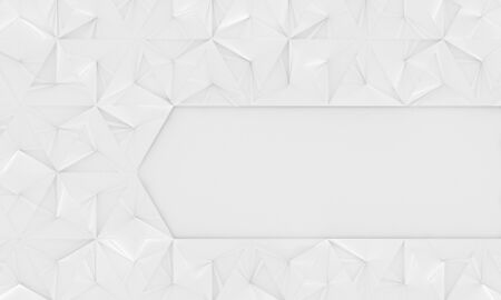 White Geometric Background With Space for Text (3d Illustration) Stock Photo