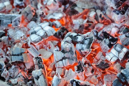 Hot Embers Close-up