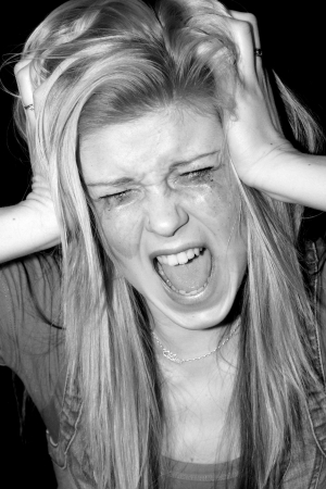 screaming girl Stock Photo - 22733196