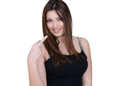 babyface: Female with nice black dress Stock Photo
