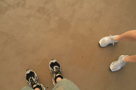 no correr: huella en la arena