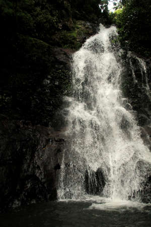 slow motion: waterfall in slow motion