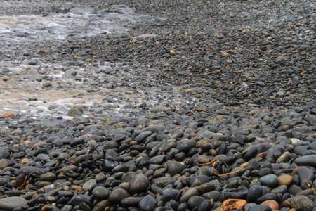 seeping: Water seeping over rocks