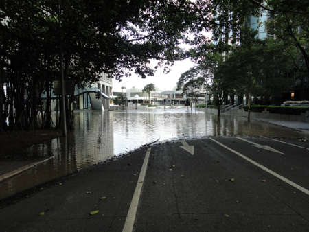 Brisbane steets under water CBD Editorial