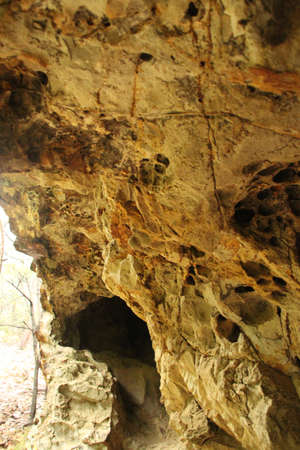 overhang: Cliff overhang Stock Photo