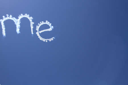 i beam: Me sky writing Stock Photo