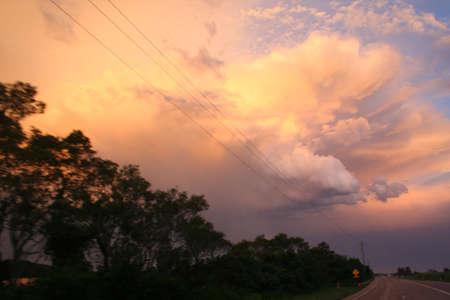 firey clouds photo
