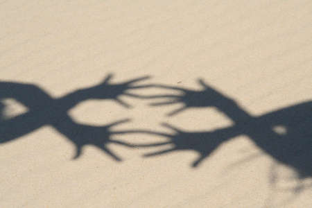 shadows of hands photo