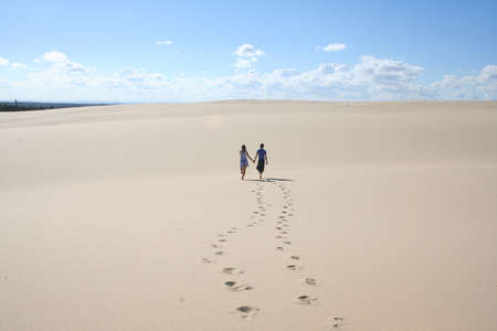 finding love: footprints in the sand