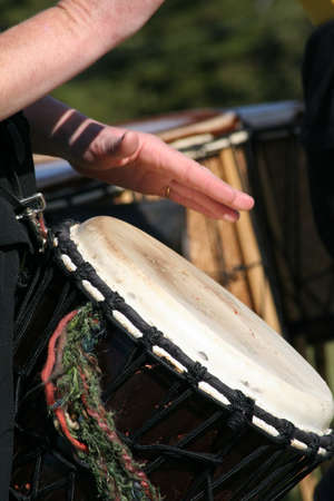 tambor: jammming en el tambor Foto de archivo