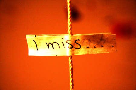 I miss.... Stock Photo - 11592256