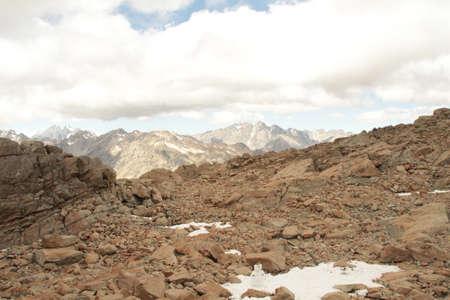 rugged terrain: rugged mountaintop Stock Photo