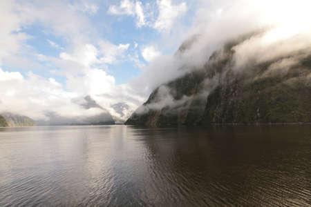 neroyfjord: Mountainous sound with sweeping clouds Stock Photo
