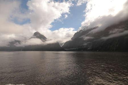 neroyfjord: Beautiful day through at Milford Sound Stock Photo