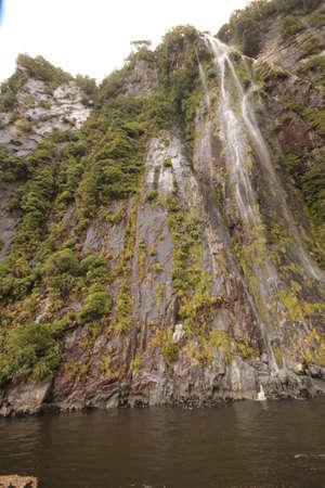 neroyfjord: Waterfall into Milfordsound
