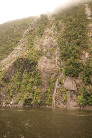 neroyfjord: Landslide damage on rock face Stock Photo