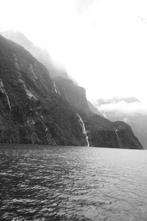 Mysterious waterfall in Milfordsound photo