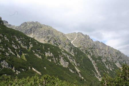tall mountain range photo