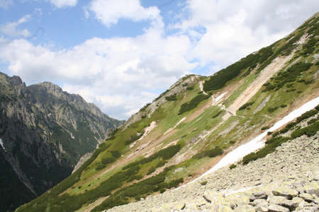 Polish trail up the tatra mountain