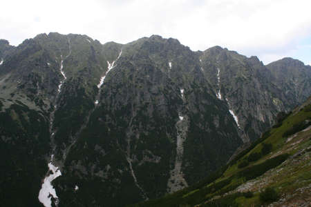 Dark mountain in poland photo