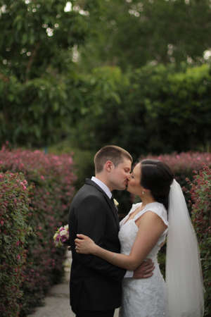A kiss in the garden