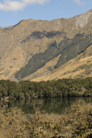 New Zealand mountain and lake Stock Photo
