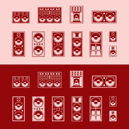 Set of speakers  Vector illustration