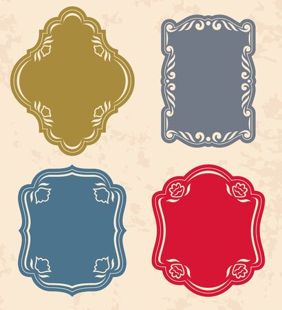 Set of vintage labels  Vector illustration