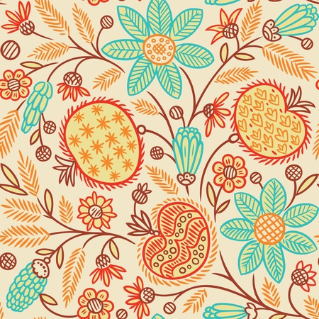 Seamless floral pattern  Vector illustration  Vector