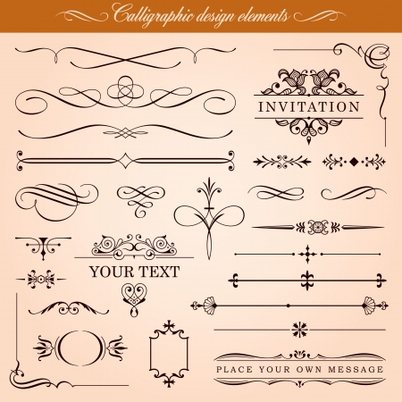 Calligraphic Design Elements and Page Decoration Stock Vector - 13617819