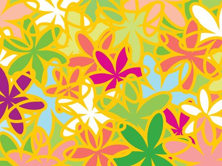 Summer floral texture fond de fleurs. Vector illustration