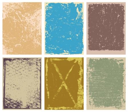 Vector grunge achtergronden, kaders en randen Stock Illustratie
