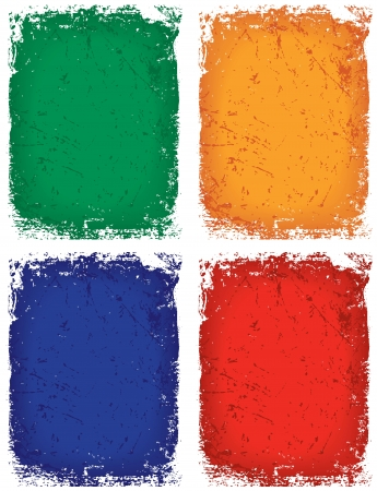 Grunge achtergrond in 4 kleurvarianten Stock Illustratie