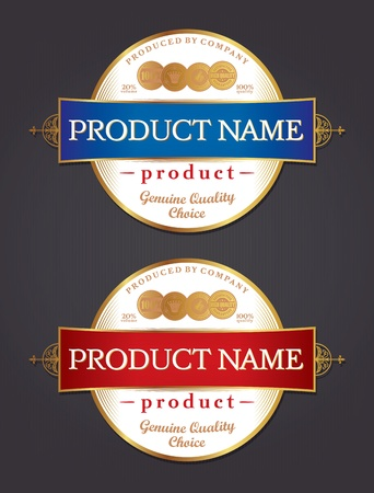 Product label design template retro style   Illustration