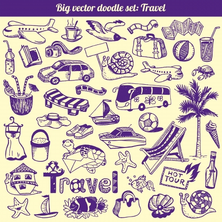 Travel Doodles Collection Set