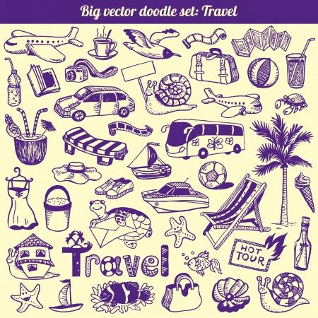 Travel Doodles Collection Set